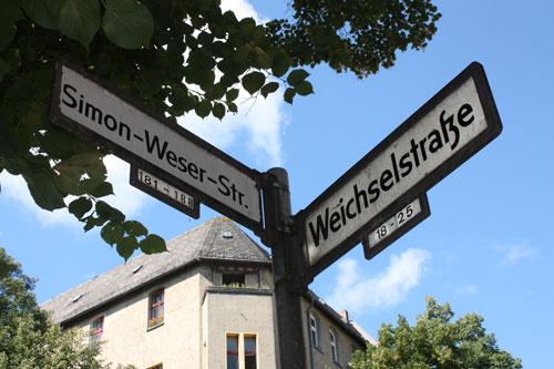 Straßenschild_Weserstraße